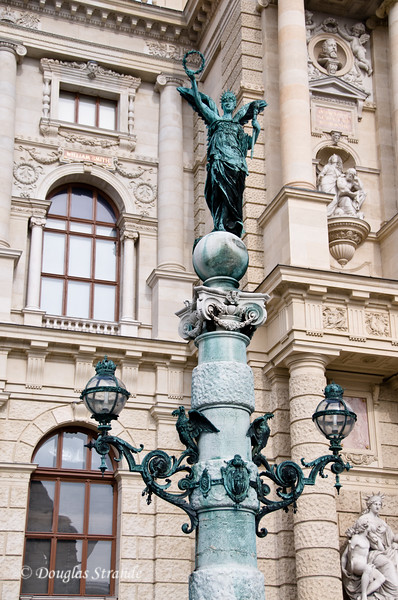 Elaborate lampost outside the Natural History Museum, Vienna