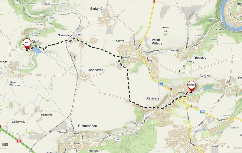 Directions to Okoř Castle and Countrysde