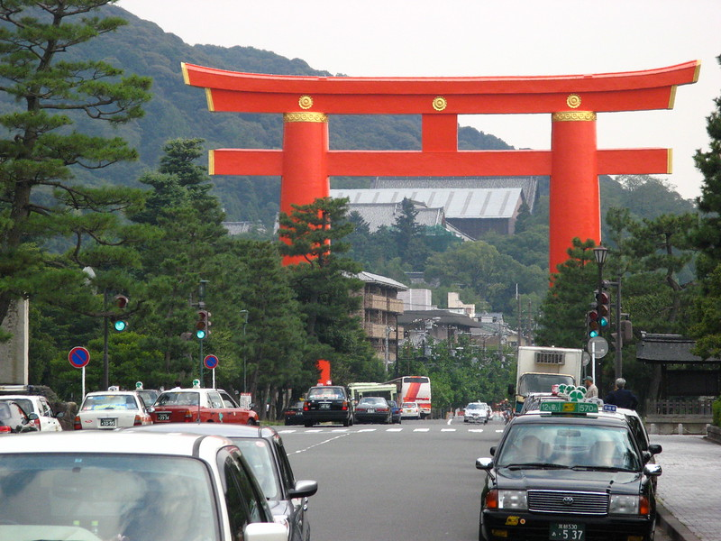Huge arch in Kyoto