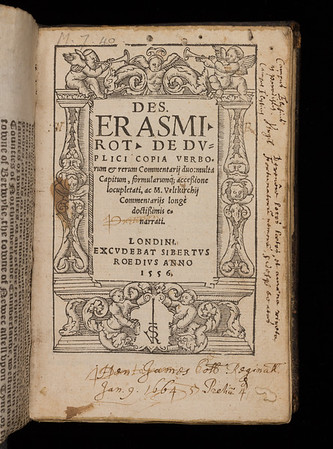 Erasmus' educational and literary works