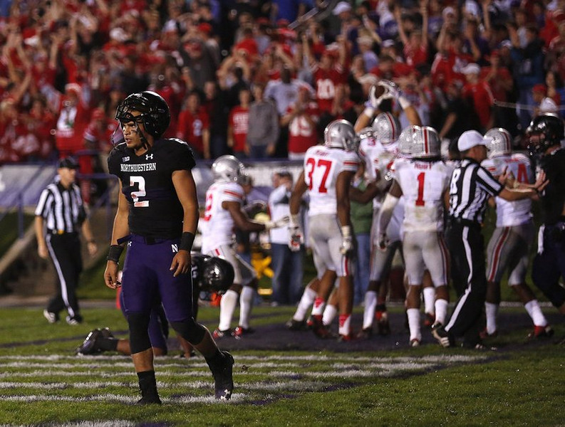 ". <p>10. (tie) NORTHWESTERN WILDCATS <p>Well, we THOUGHT they gave up game-fixing in 1994. (unranked) <p><b><a href=\'http://ftw.usatoday.com/2013/10/ohio-state-northwestern-gambling-100-million-musburger/\' target=""_blank\""> HUH?</a></b> <p>   (Jonathan Quilter/Columbus Dispatch/MCT)"