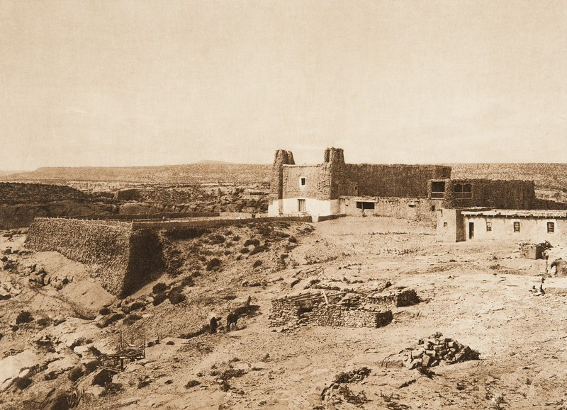 Church and cemetery - Acoma (The North American Indian, v. XVI. Norwood, MA, The Plimpton Press,  1926)