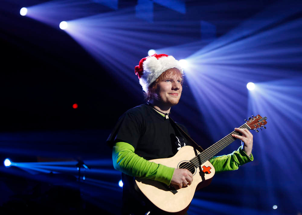 Description of . Singer Ed Sheeran performs during the Z100 Jingle Ball at Madison Square Gardens in New York, December 7, 2012.    REUTERS/Carlo Allegri