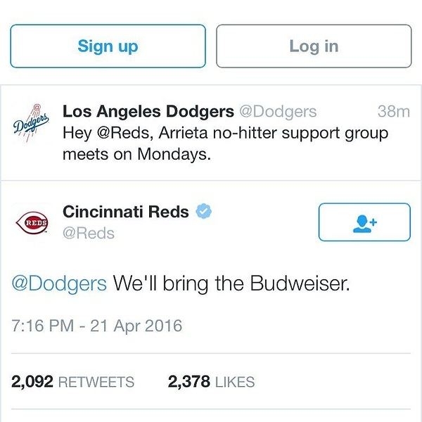 Well played @Dodgers & @Reds #gocubsgo #cubswin