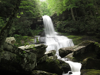 Two waterfalls in Transylvania County