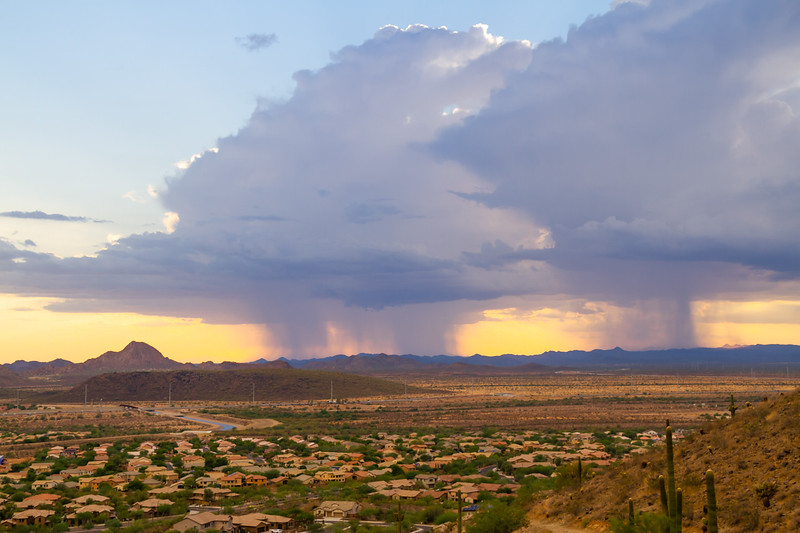A Monsoon Storm over Arizona