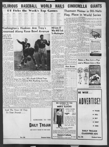 Daily Trojan, Vol. 43, No. 14, October 04, 1951