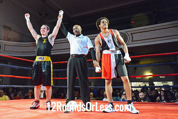 Bout #4 Mike Lamoreux, West Side Boxing Club  vs  Sir-William Cofield, PAL/Thurgood,  152 Lbs. - Novice