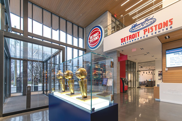 Interior of Pistons Center