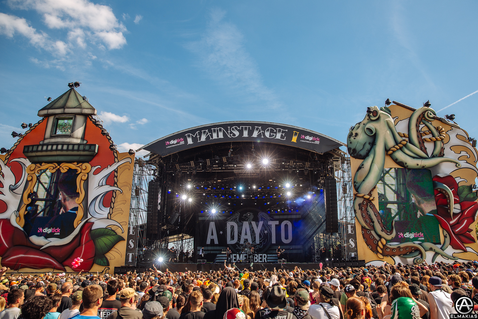A Day To Remember live at Hellfest in Clisson, France