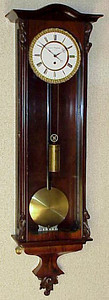 VR-246 - Beidermeier period week-running Viennese 3-lite timepiece by Konrad Brodsky in Wien