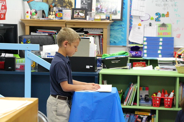 Poetry Party - 2nd and 3rd grade 4/29/15