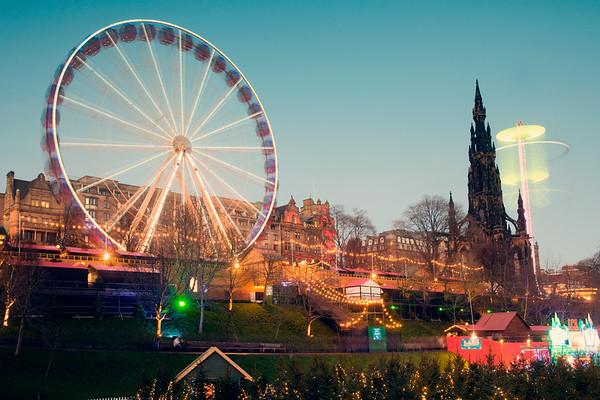 Nightscapes  in Edinburgh