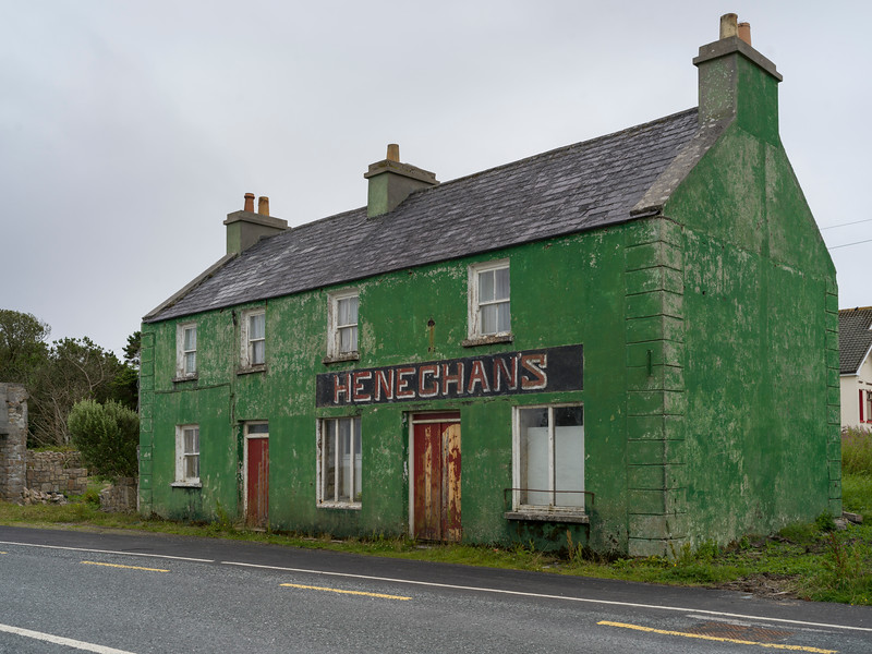 Fa�ade of old tavern, Heneghans, Belmullet, Erris, County Mayo, Republic of Ireland