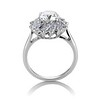 2.87ctw old European Cut Diamond Spray Ring GIA J SI1 3