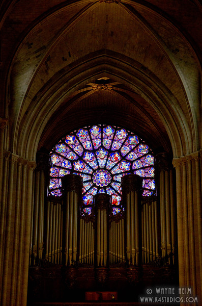 Stained Glass in Notre Dame 7    Photography by Wayne Heim