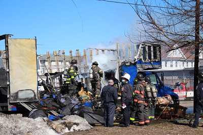 Truck fire - Kossuth St & Pearl St. Bridgeport, CT - 3/5/2021