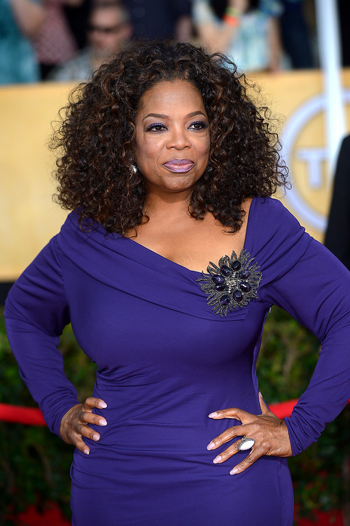 . Oprah Winfrey arrives at the 20th Annual Screen Actors Guild Awards  at the Shrine Auditorium in Los Angeles, California on Saturday January 18, 2014 (Photo by Michael Owen Baker / Los Angeles Daily News)