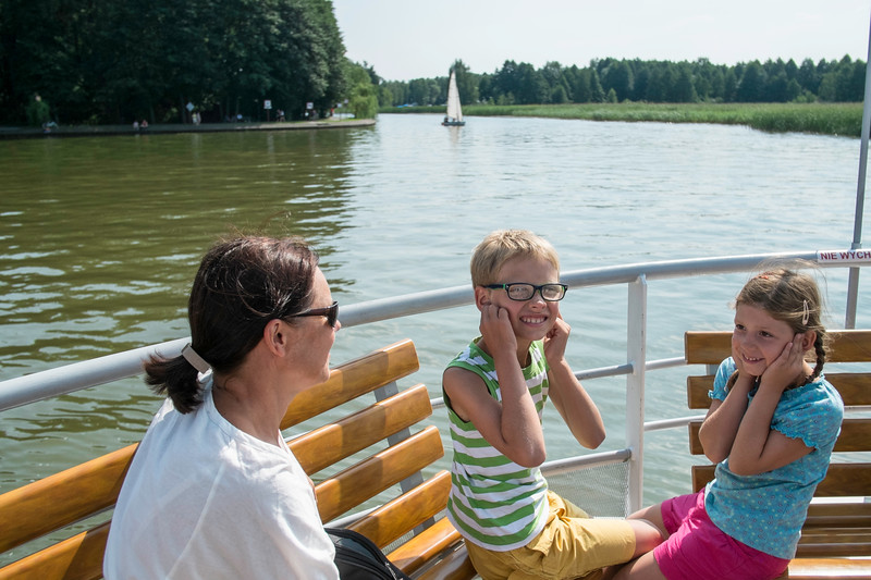 Cruise along the lake, Augustow, Poland