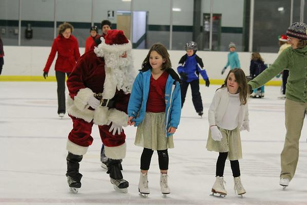 Skating with Santa at Union Arena