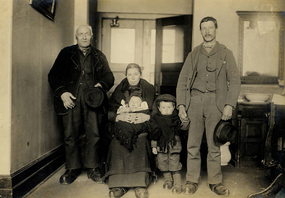 . German family from eastern Europe. (NPS photo)