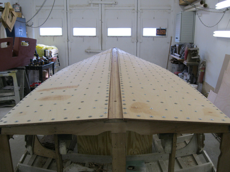 Rear view of final bottom layer epoxied in place.