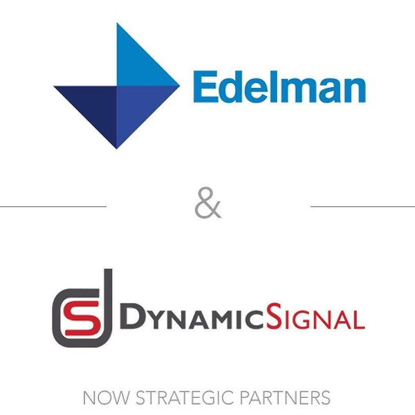 Big day for our @dynamic_signal team today. Thanks to @davidarmano and the @edelman team for getting us here!