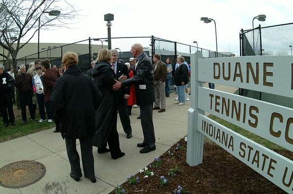 Klueh tennis court dedication