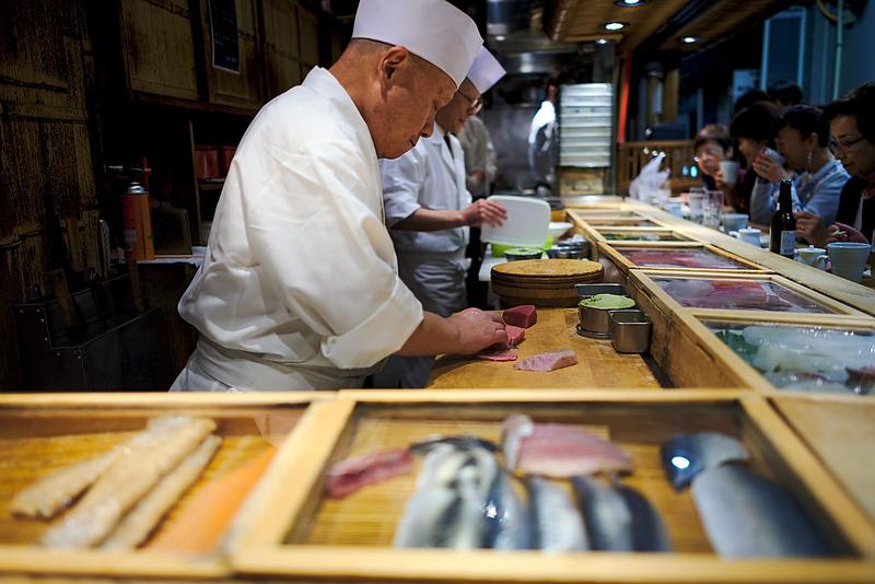 Sushi restaurant near Tsukiji Market