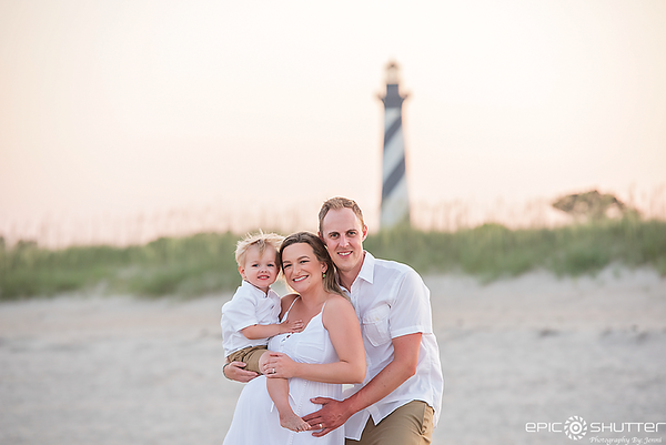 Cape Hatteras Family Vacation, Buxton, North Carolina, Cape Hatteras Lighthouse, Family Portraits, Family Photos, Outer Banks Photographer, Hatteras Island Photographer, OBX Family Vacation, Epic Shutter Photography
