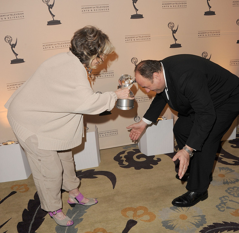 . Actor James Gandolfini (L) and Sheila Nevins arrive at the 4th Annual Television Academy Honors held at Beverly Hills Hotel on May 5, 2011 in Beverly Hills, California  (Photo by Jason Merritt/Getty Images)