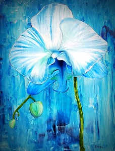 """The Azure Blossom"" (oil and acrylic) by Brett Dalziel"