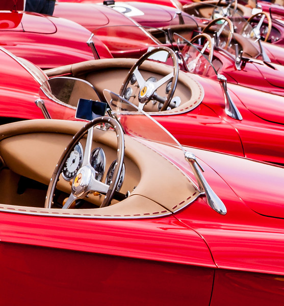 A few Ferraris at the Pebble Beach Concours D'Elegance