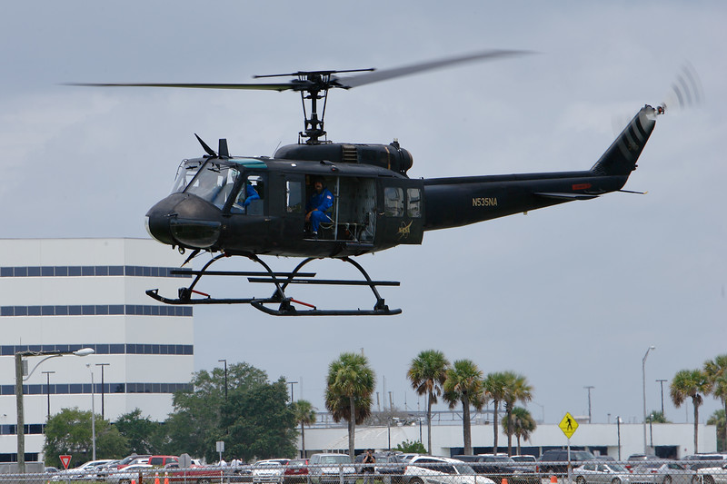 This NASA UH-1 is used to ferry recording media from the pad following a launch.