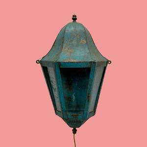 Painted metal wall light