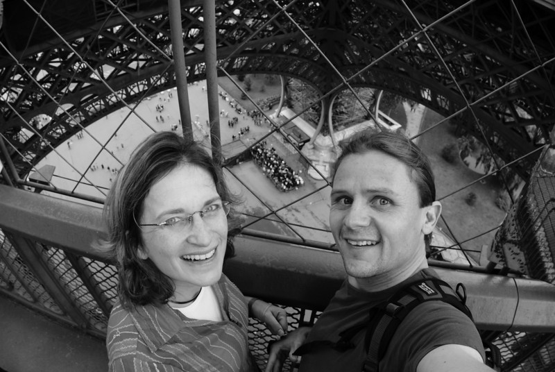Us on the Eiffel Tower.