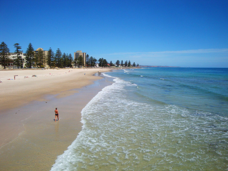 A half hour jog north of Brighton is Adelaide's most popular beach - Glenelg.