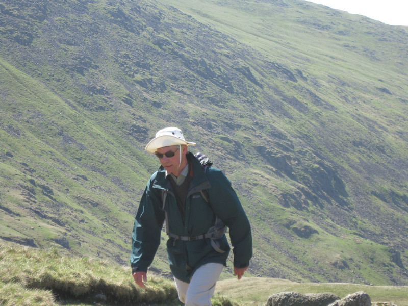 Martin climbing towards Grisedale Hause