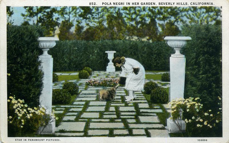 Pola Negri in Her Garden