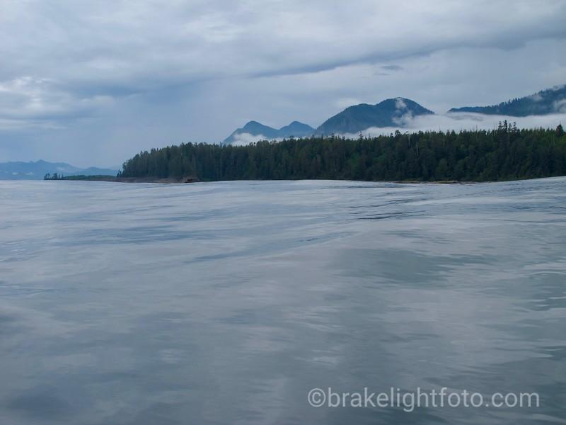 Calm seas, large swell of the Vancouver Island Coast