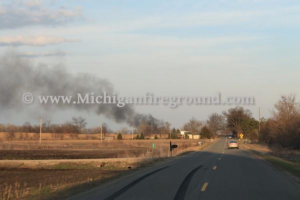 3/22/16 - Stockbridge pole barn fire, 3300 Baseline Rd