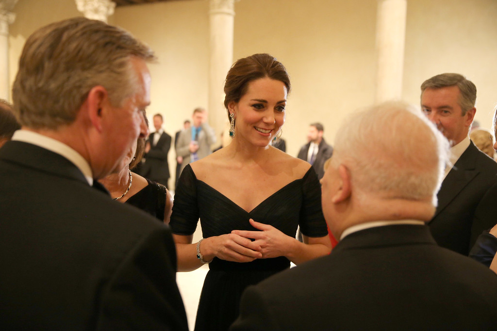 . Catherine, Duchess of Cambridge attends the St. Andrews 600th Anniversary Dinner at Metropolitan Museum of Art on December 9, 2014 in New York City. The event is created to support scholarships and bursaries for students from under-privileged communities and investment in the university\'s media and science faculties, sports centers and lectureship in American literature.  (Photo by Richard Perry - Pool/Getty Images)