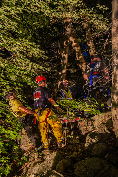8-12-14 Rope Rescue Drill, Cross Road, Garrison