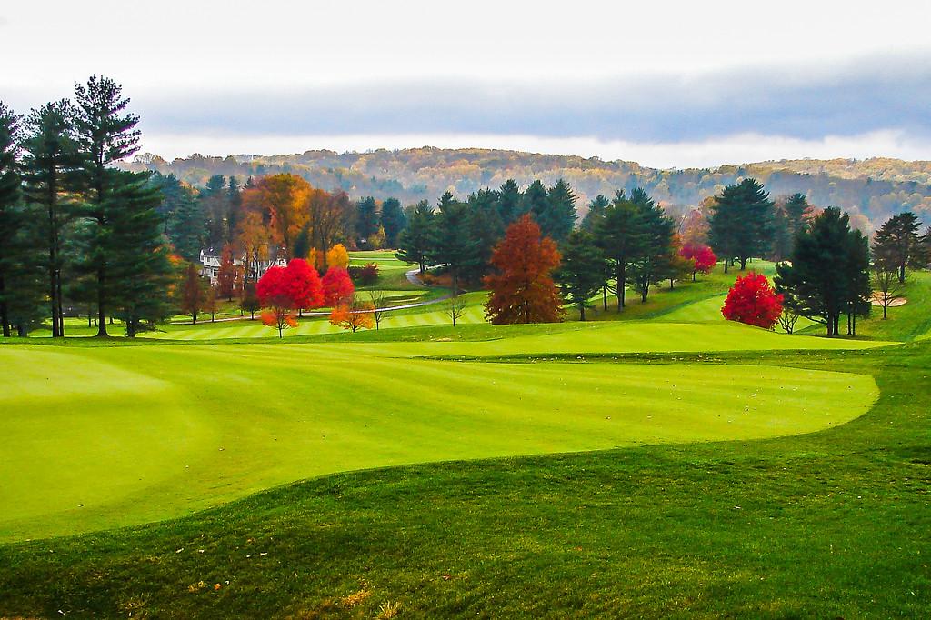 宾州奥弗布鲁克高尔夫俱乐部(Overbrook Golf Club),打球看景