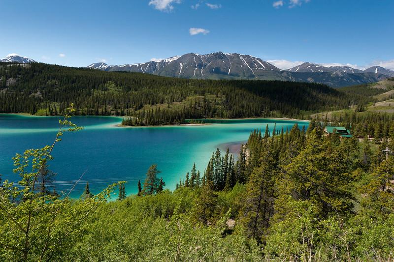 Emeralnd Lake in Whitehorse, Yukon, Canada