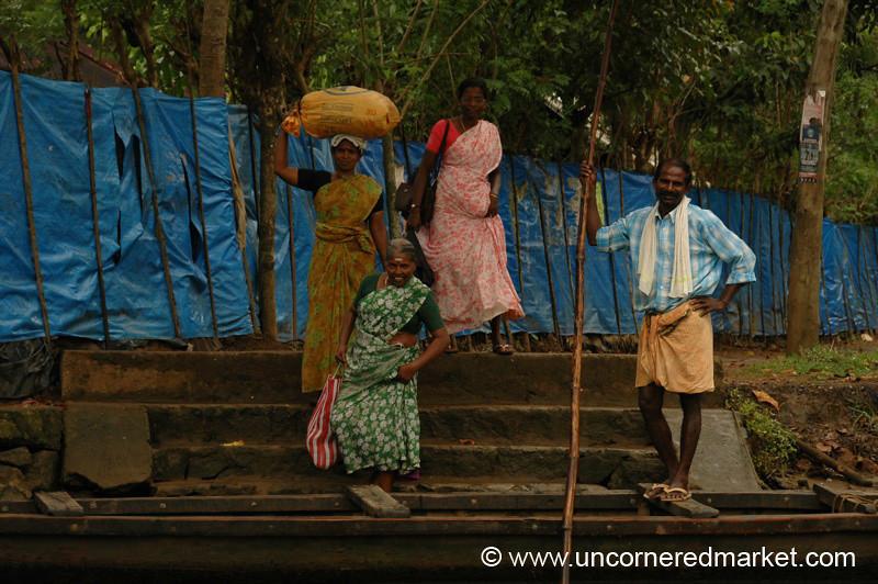 Waiting at the Dock - Kerala Backwaters, India