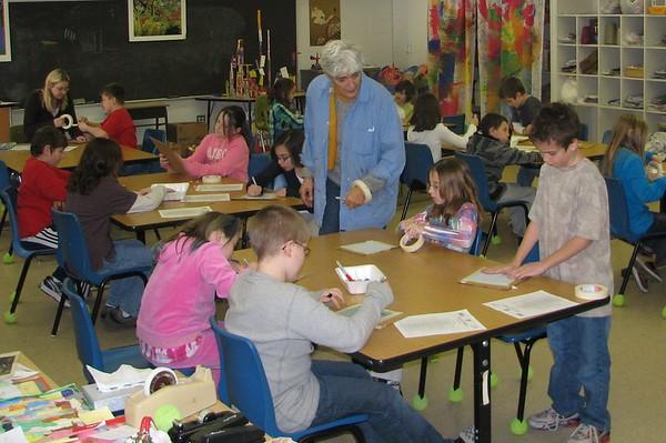 20100122  Pollard School 5th Grade Earth Quilt