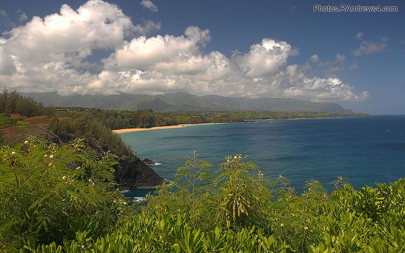 """""""Secret Beach"""" from Kilauea Lighthouse"""
