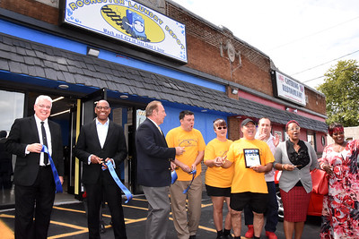 Officials welcome Rochester Laundry Depot to Lyell Avenue. 9/12/2018