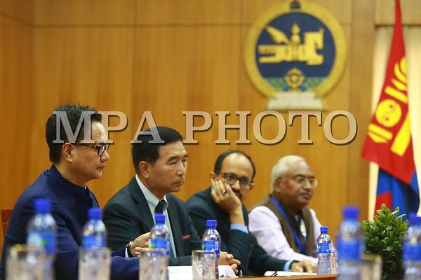 Шадар сайд Ө.Энхтүвшин Энэтхэгийн төрийн дотоод хэргийн сайд Кирин Рижижу хүлээн авч уулзлаа